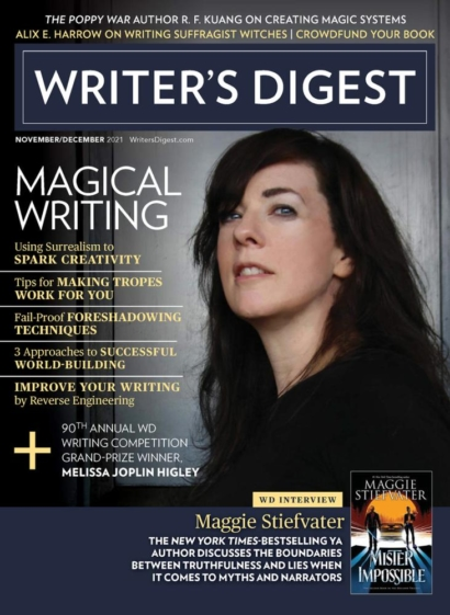Writer's Digest November 01, 2021 Issue Cover