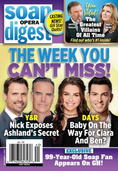 Soap Opera Digest October 04, 2021 Issue Cover